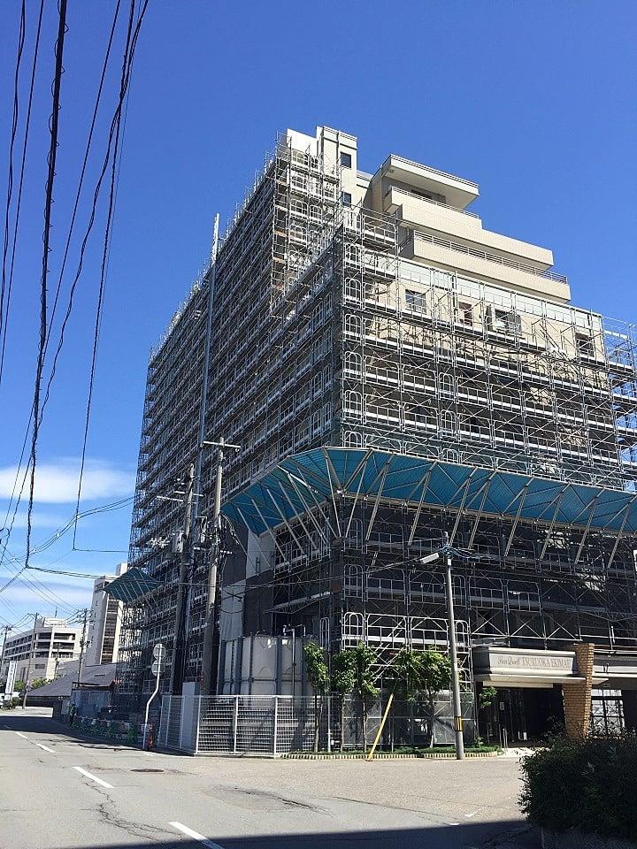 平成29年度 サンデュエル鶴岡駅前大規模修繕工事(足場工事)