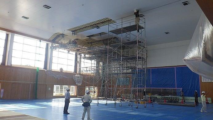 平成27年度 三川町東郷小学校体育館天井等落下防止工事