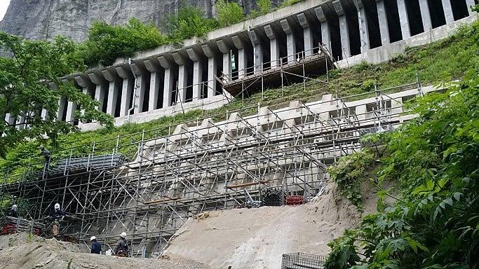 平成30年度 国道458号道路災害復旧工事(足場工事)