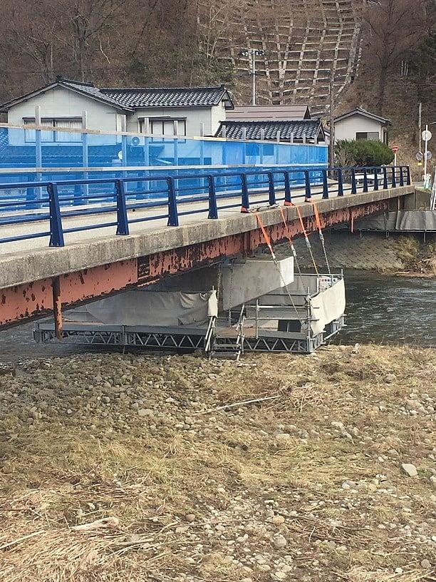 平成29年度 大清水橋補修工事(足場工事)