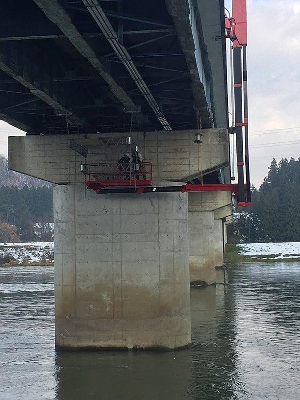 平成29年度 最上川河川表示板設置工事(足場工事)