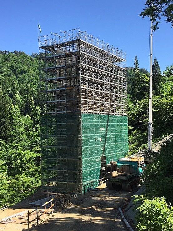 平成29年度 羽黒山橋P1橋脚及びベント基礎工事(足場工事)