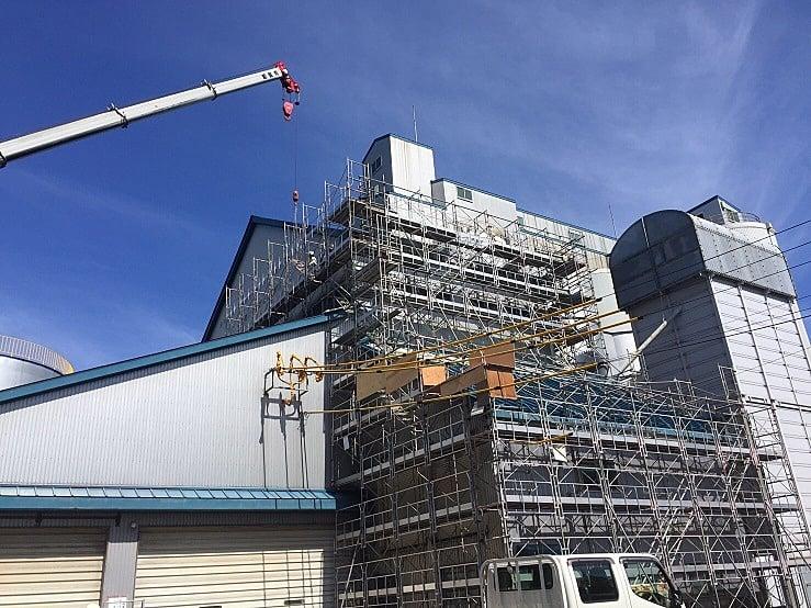 平成28年度 西郷地区ライスセンター 屋根修繕工事(仮設工事)