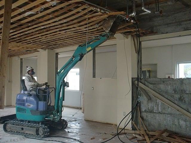 平成27年度 鶴岡市立朝日中学校解体工事