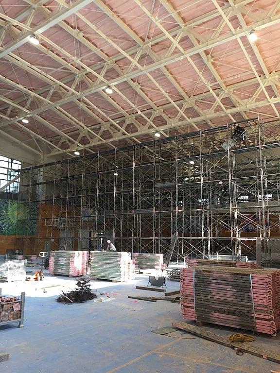 平成29年度 鶴岡市立温海中学校体育館天井等撤去工事