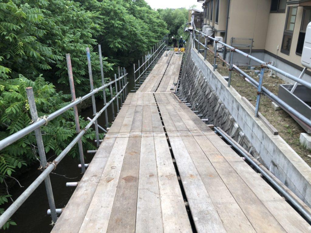 令和2年度 布目川護岸復旧工事