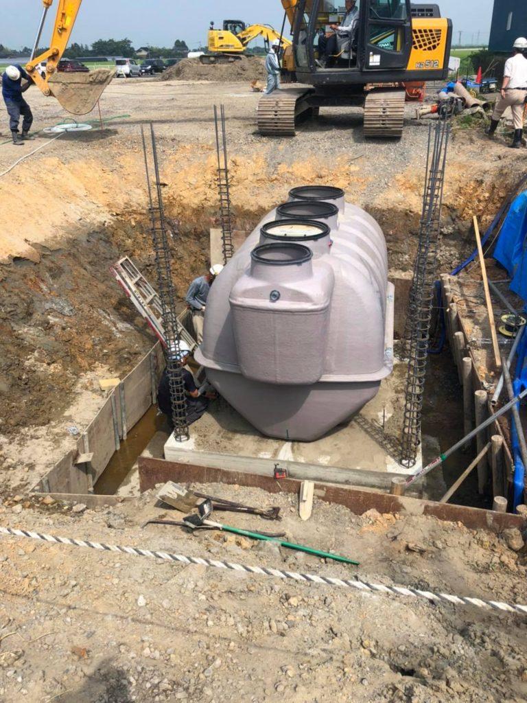 令和2年度 Honda Cars 山形 浄化槽設置工事(土工事)