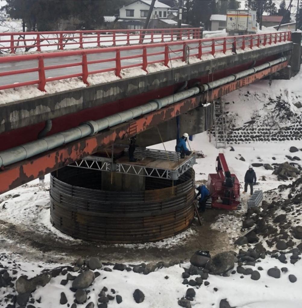 令和3年度 大口橋耐震補強工事